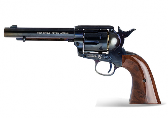 """Photo of Umarex Colt Peacemaker 5.5"""" BB Blued, Nickel or Antique finish"""